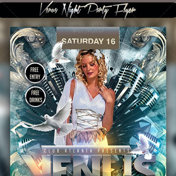 Venus Night Party Flyer