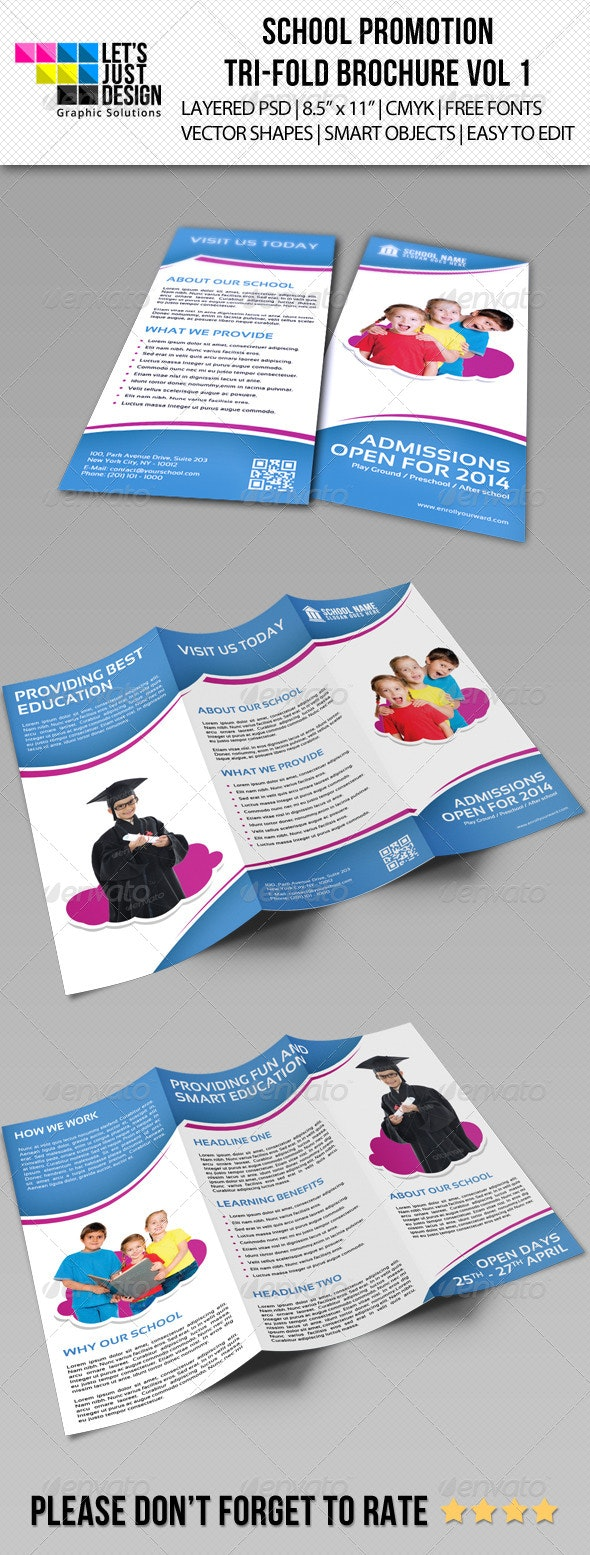School Promotion Tri-Fold Brochure Vol 1 - Corporate Brochures