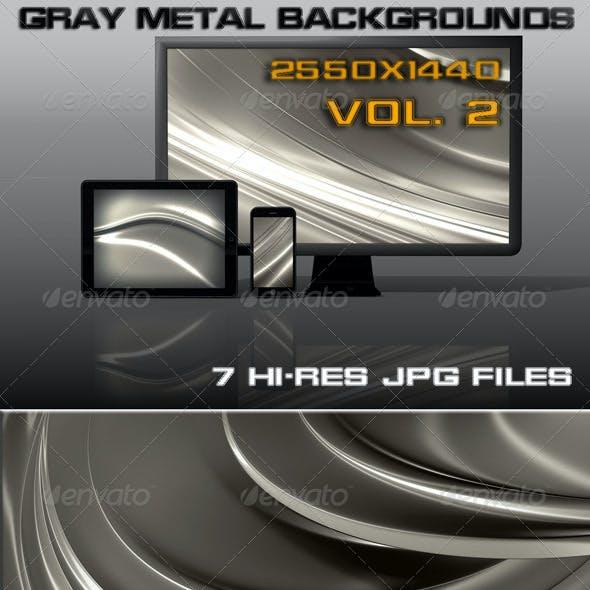 Gray Metal Web Background