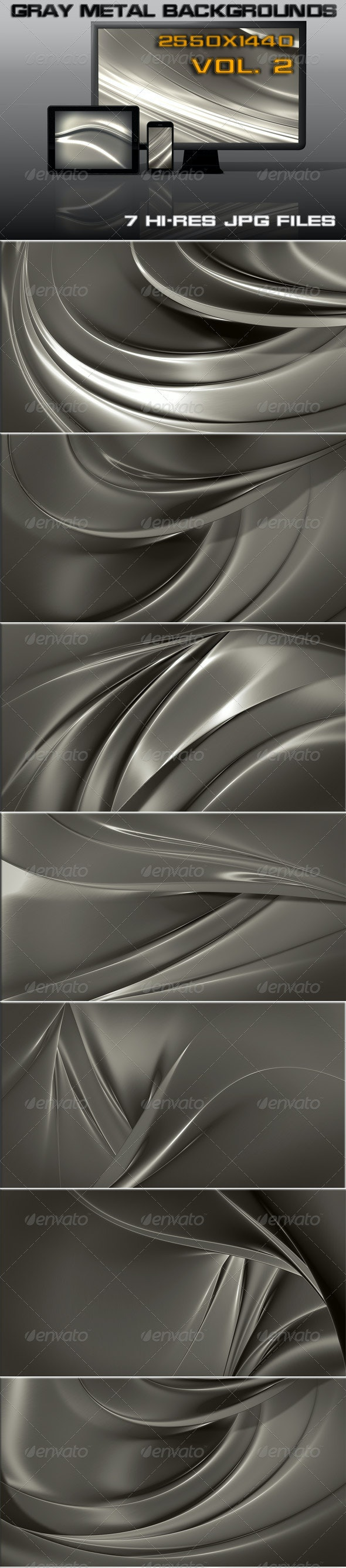 Gray Metal Web Background  - 3D Backgrounds