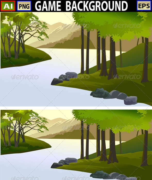 Vector Game Background - Backgrounds Decorative