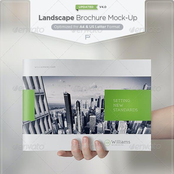Landscape Brochure Mock-Up Set
