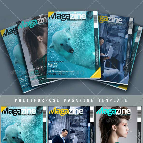 Multipurpose Magazine Template - Photoshop PSD