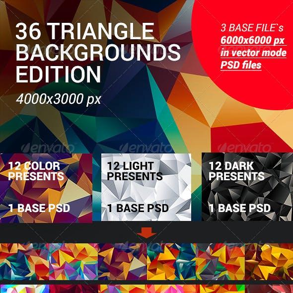 36 / Mega Set Flat Triangle Backgrounds