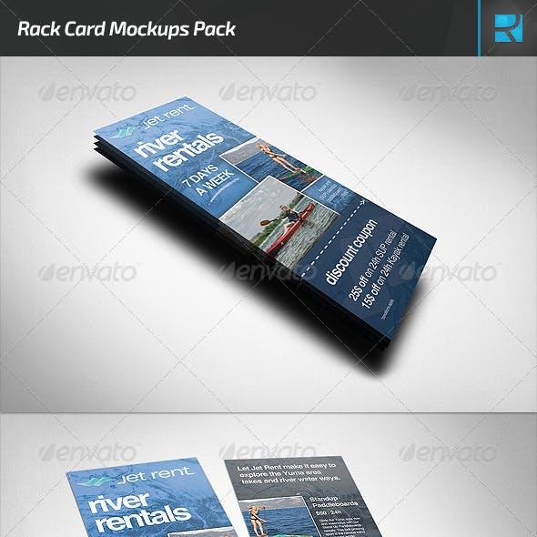 Rack Card Mockups Pack
