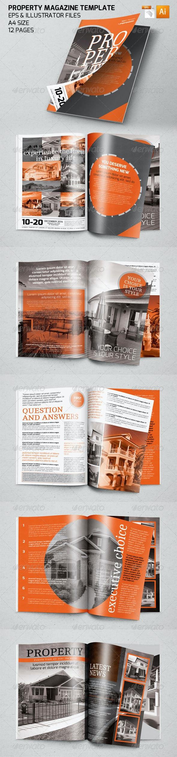 Property Magazine Template - Magazines Print Templates