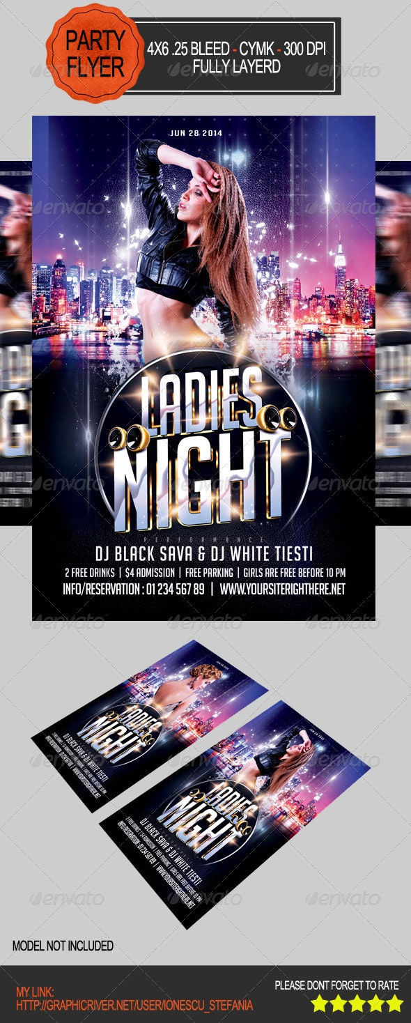 Ladis Night Flyer - Clubs & Parties Events