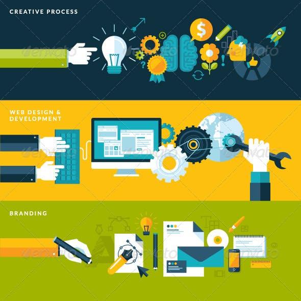 Set of Flat Design Concepts for Design Development
