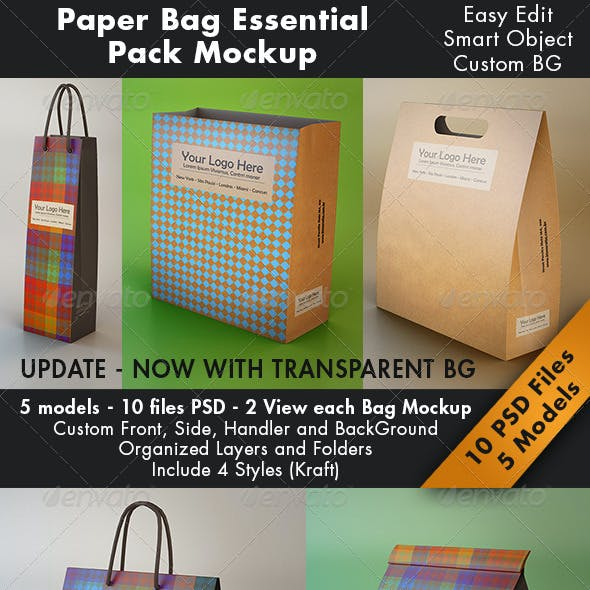Essential Paper Bag Mockup
