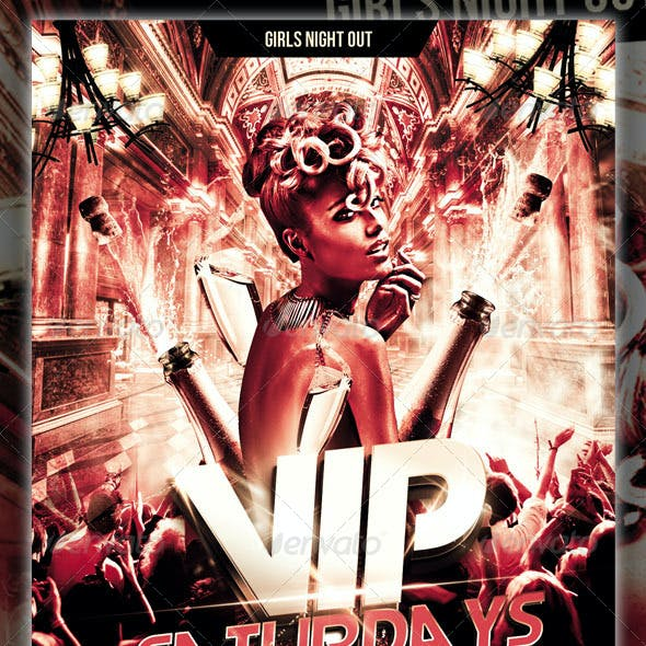 Vip Saturdays Party Flyer
