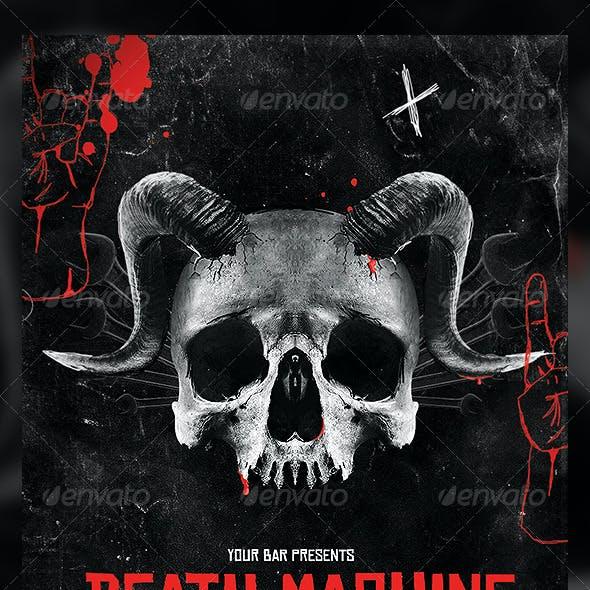 Death Machine Flyer Template
