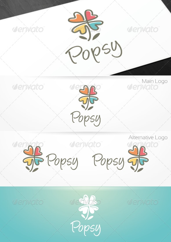 Popsy - Garden/Florist Logo Template - Nature Logo Templates