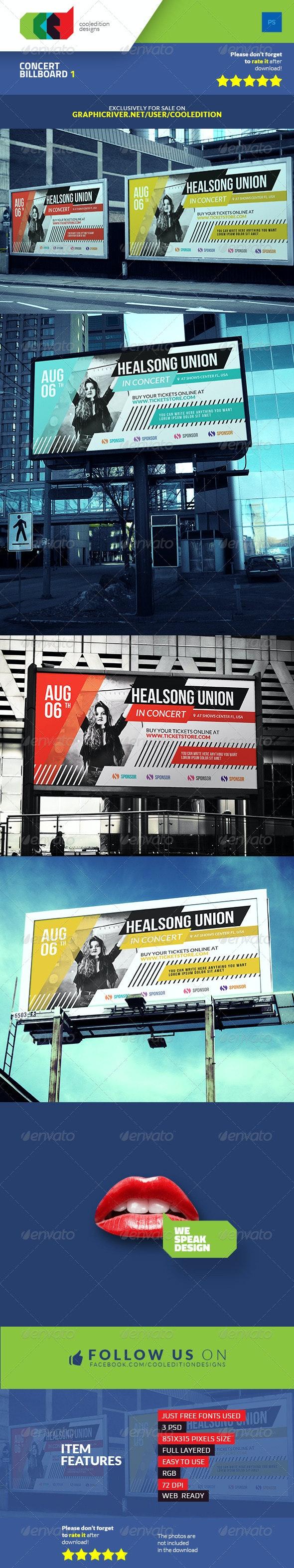 Concert Billboard 1 - Signage Print Templates