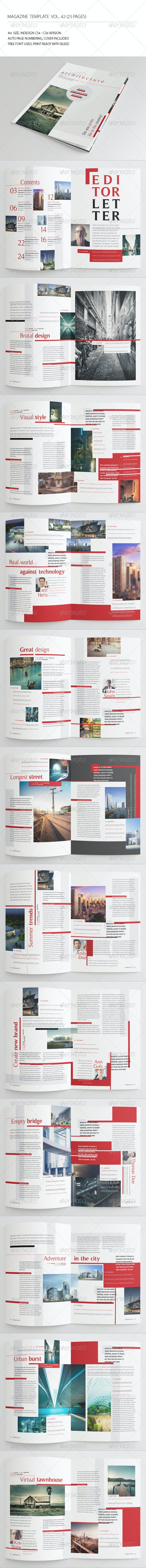 25 Pages Architecture Magazine Vol42 - Magazines Print Templates