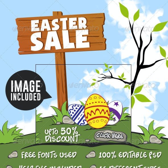 Easter Sale Banners