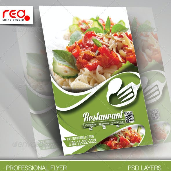 Restaurant Flyer & Menu Card Template