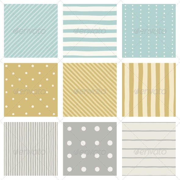 Nice Stripped and Dots Patterns