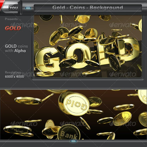 Gold Coins 3D Background