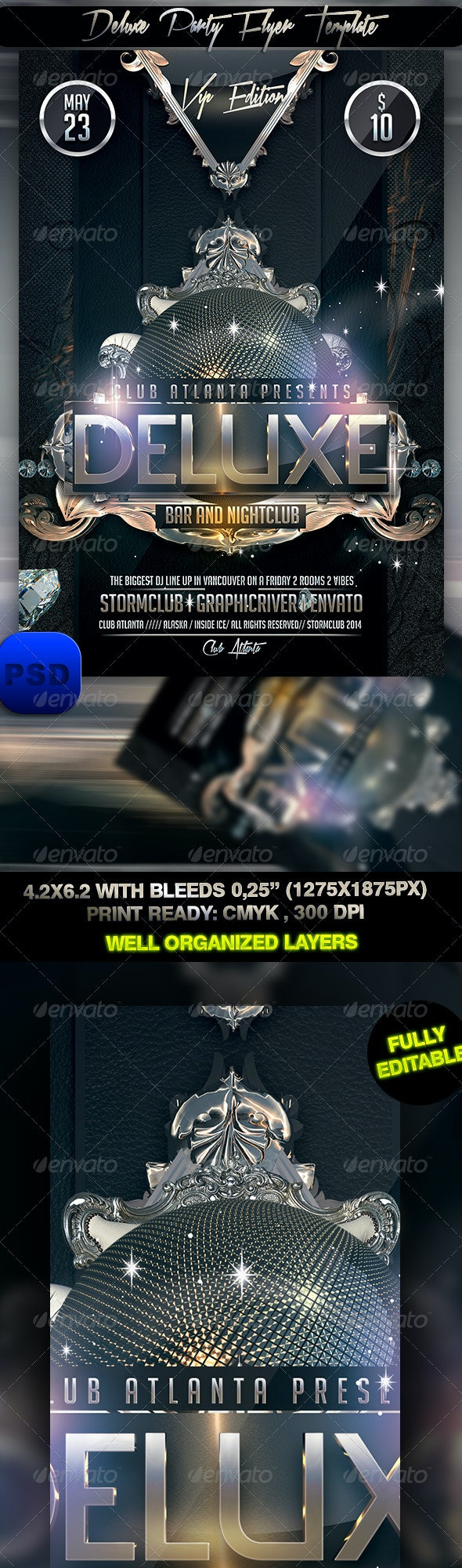 Deluxe Party Flyer Template - Events Flyers