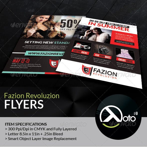 Fashion Revolution Sale Flyers