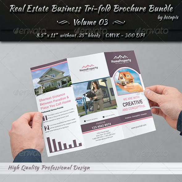 Real Estate Tri-Fold Brochure Bundle | Volume 3