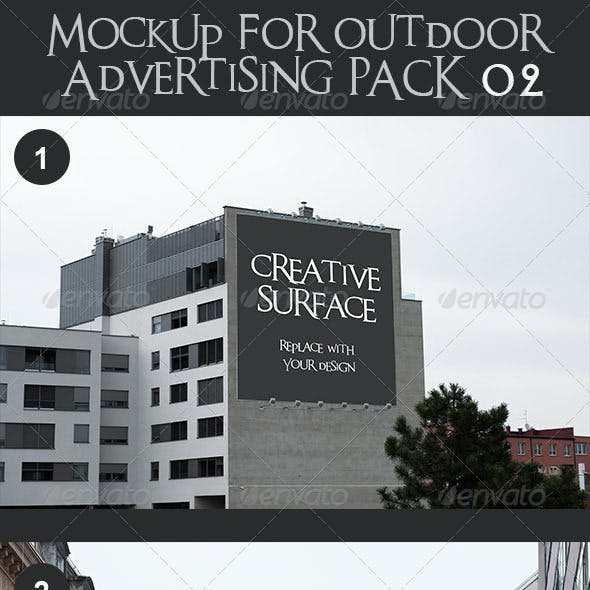 10 Mock Up's for Outdoor Advertising Pack 2