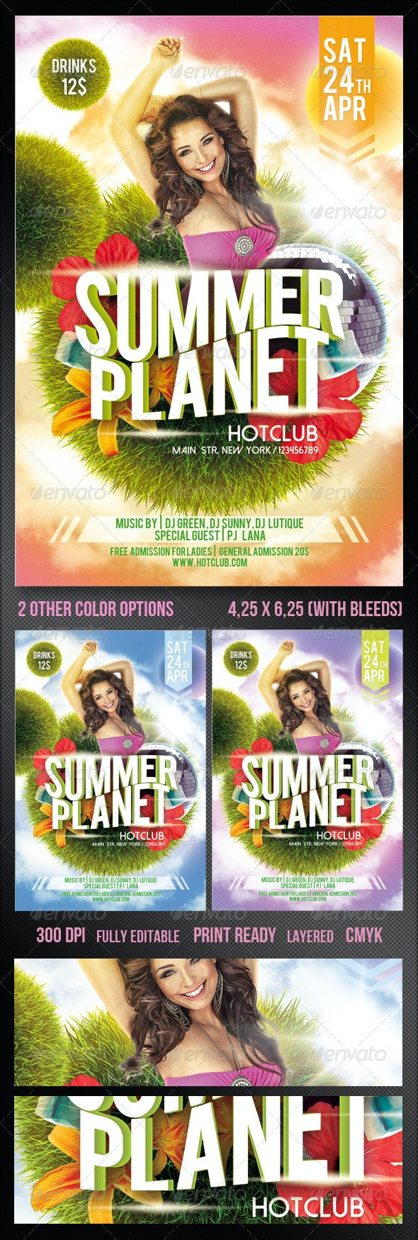 Summer Planet_Spring Party Flyer - Clubs & Parties Events