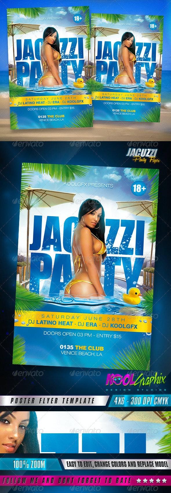 Jacuzzi Party Flyer - Flyers Print Templates