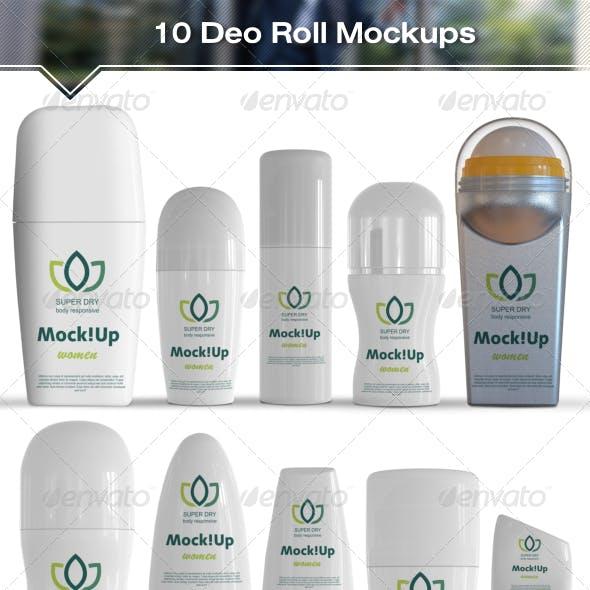 10 Roll-On Deodorant Mockups