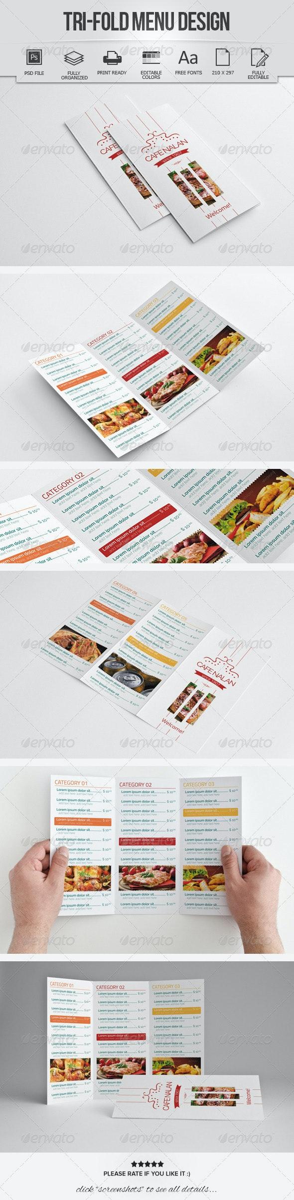 Trifold Menu Design - Food Menus Print Templates