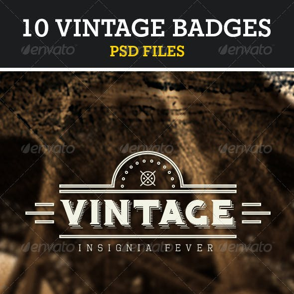 Retro Vintage Insignias Volume 1