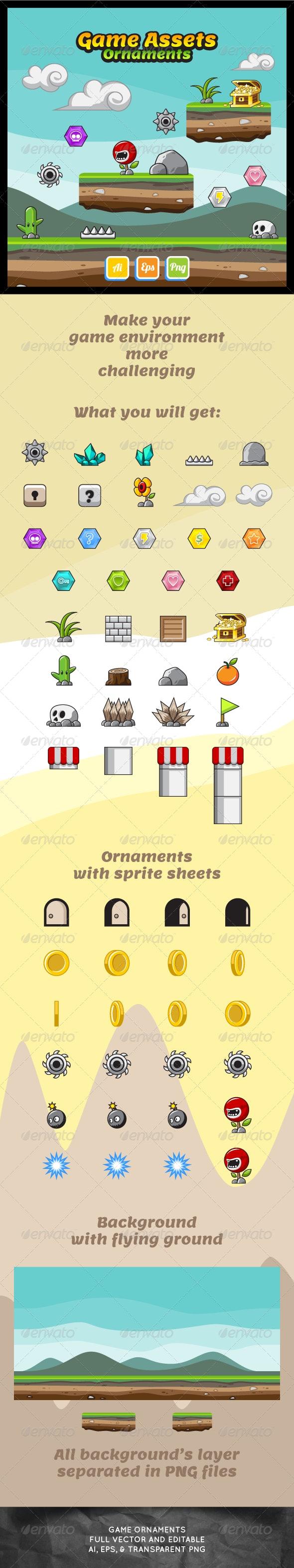 Game Asset Ornaments - Sprites Game Assets