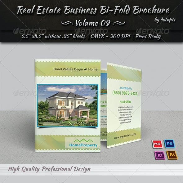 Real Estate Business Bi-Fold Brochure | Volume 9