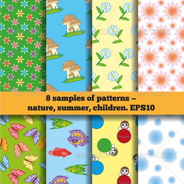 Set Of Summer baby Fabric