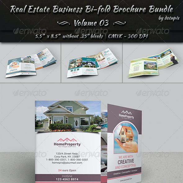 Real Estate Bi-Fold Brochure Bundle | Volume 3