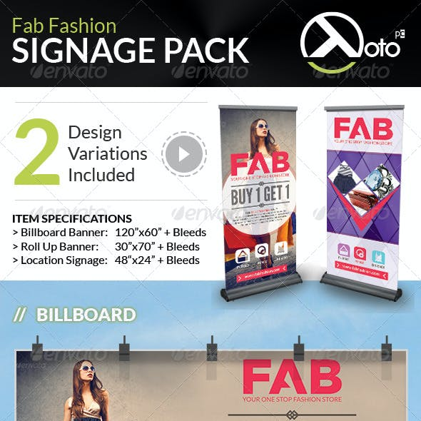 Fab Fashion Sale Signage Pack