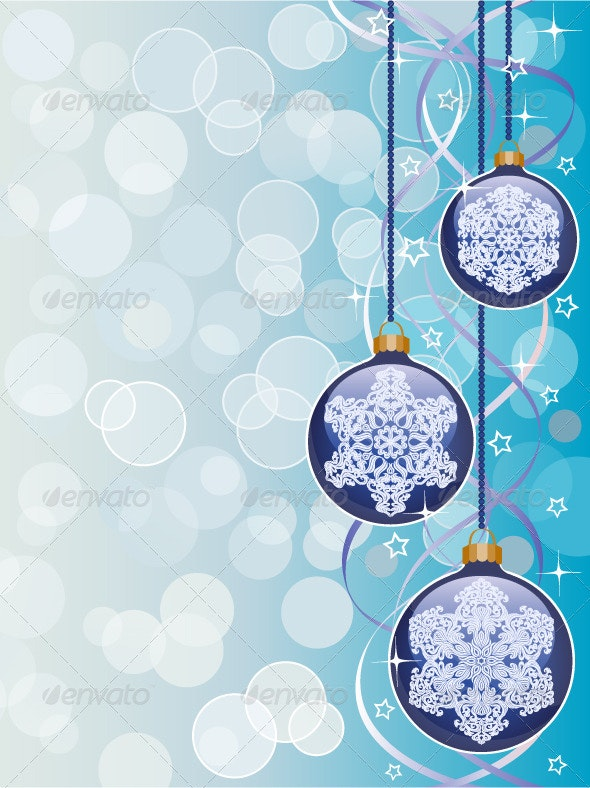 Christmas background with a holiday baubles - Christmas Seasons/Holidays