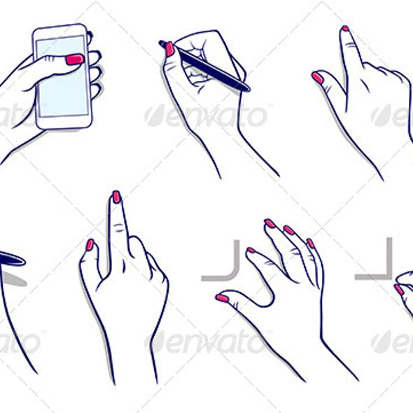 Hands Using Technology and Stylus