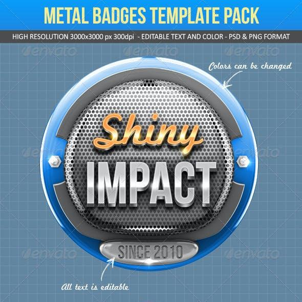 Metal Badges Template Pack