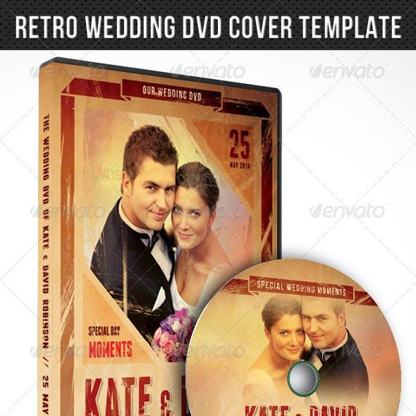 Retro Wedding DVD Cover Template