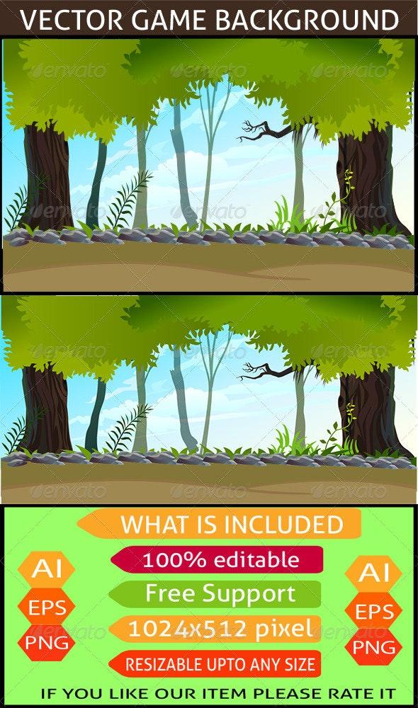 Forest Game Background - Landscapes Nature