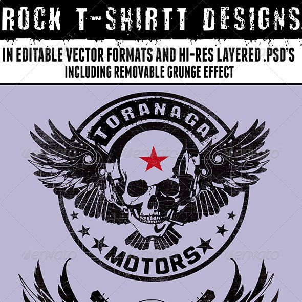 2 Rock T-Shirt Designs