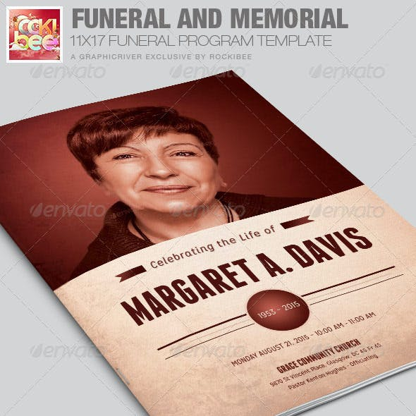 Funeral and Memorial Program Template