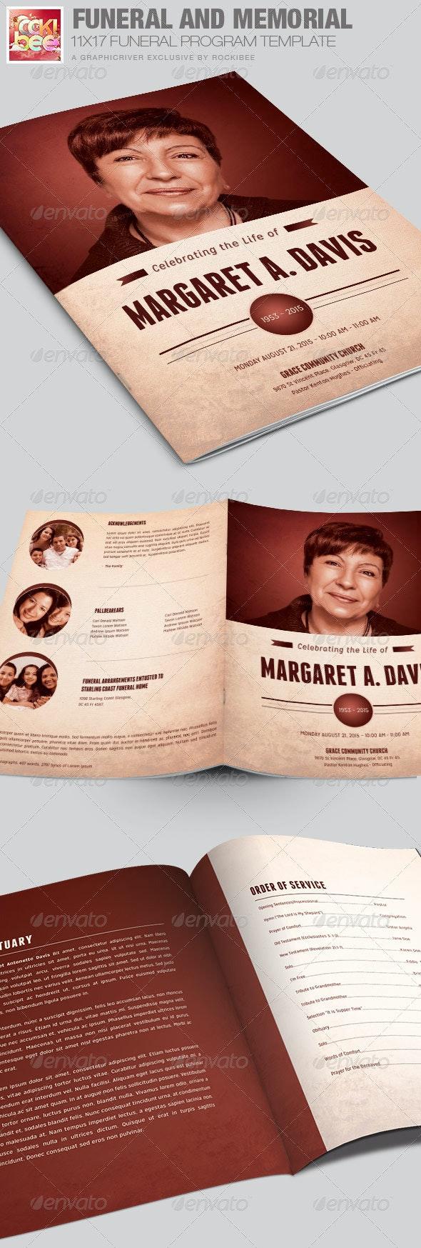 Funeral and Memorial Program Template - Informational Brochures