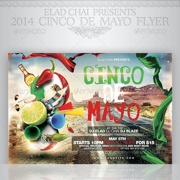 2014 Cinco De Mayo Flyer Template