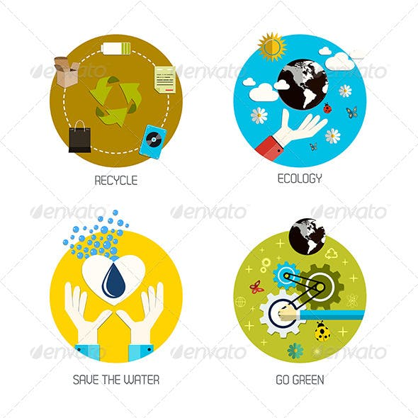 Recycle and Ecology Icons