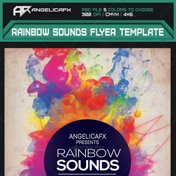 Rainbow Sounds Flyer Template