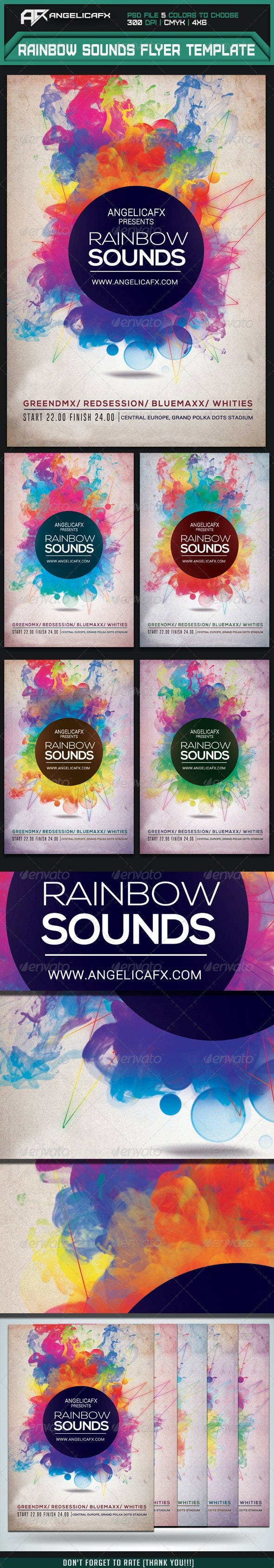 Rainbow Sounds Flyer Template - Events Flyers