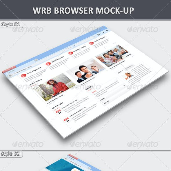 Web Browser Mock-Up