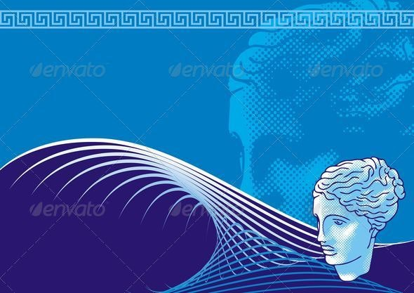 Venus head background - Backgrounds Decorative
